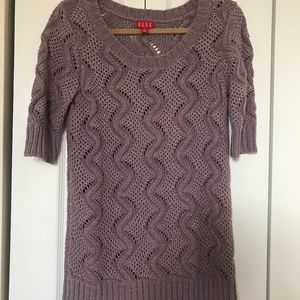 Elle Sparkly Cable Knit Lilac Sweater
